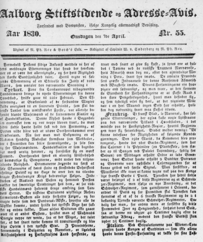 aalborg stiftstidende gamle aviser